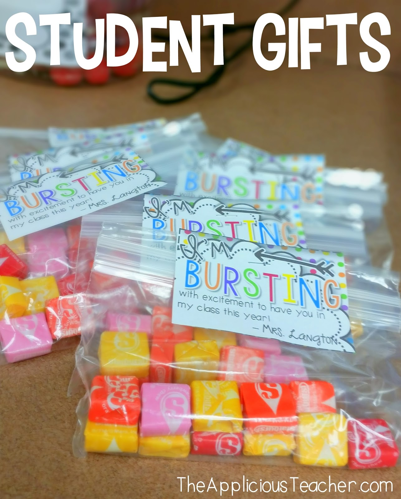 Classroom Gift Ideas For Students ~ Meet the teacher applicious