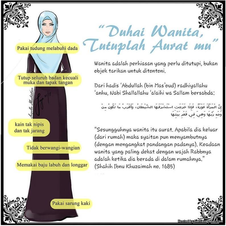 13 Aurat Wanita Yang Wajib Dijaga