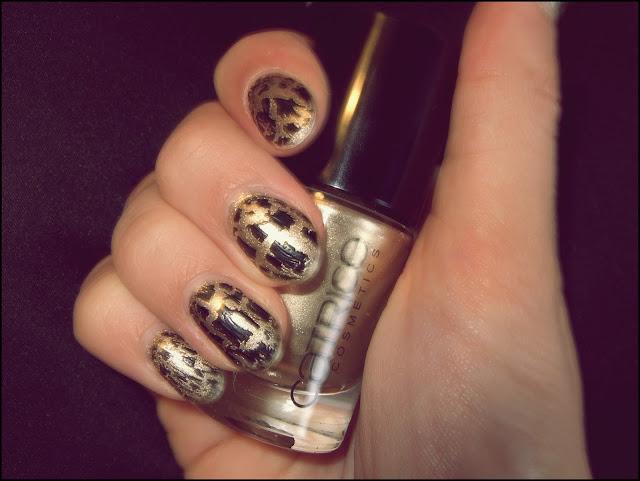 crackling schwarz+gold