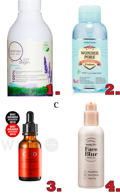 que origin lavender bath wash etude house wonder pore freshener OST C20 vitamin C serum review Etude house face blur review sg