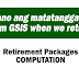GSIS Retirement Packages Computation