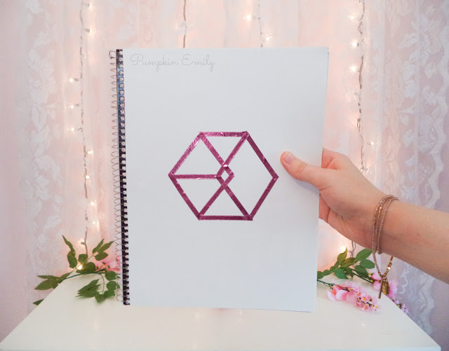 DIY EXO Logo Notebook Cover