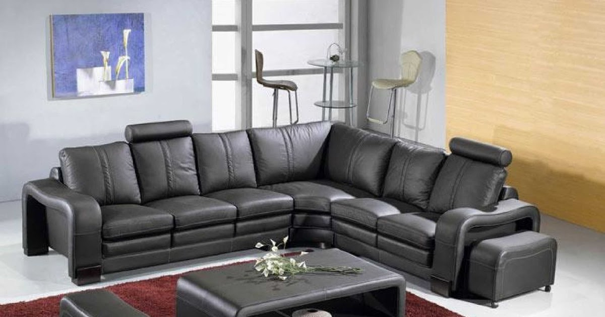 How To Buy Black Leather Sofa Online Modern Black Leather