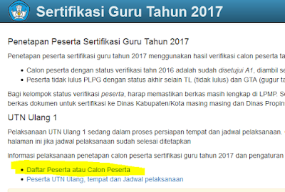 Alamat Baru Untuk Cek Peserta PLPG Sergur 2017