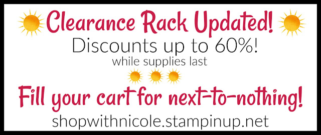Stampin' Up! Clearance Rack Refresh | stamping sales | Shop with Nicole Steele The Joyful Stamper | Use reward code SWDK2WN2 for my Ornate Garden Mega Tutorial Bundle