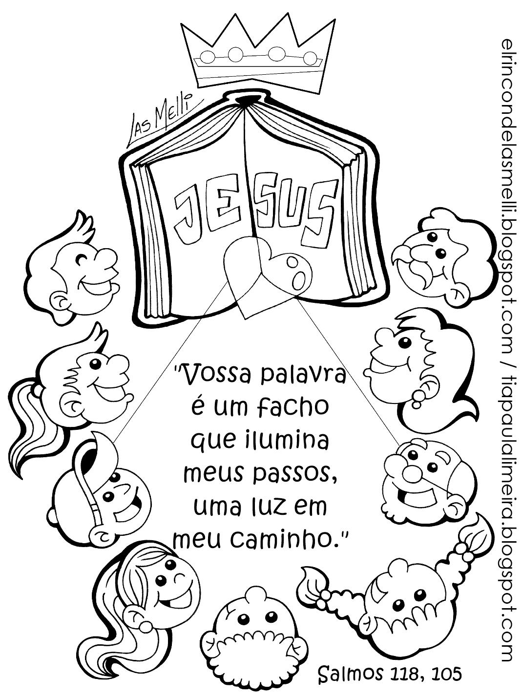 Tia Paula Desenhos Para Colorir Biblia