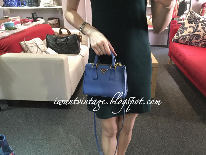 fabecb4fe242 ... real prada saffiano lux mini double zip tote blue 04e01 6c6cd