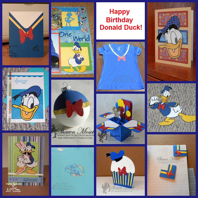 Crafty Chics – Donald Duck Birthday Card