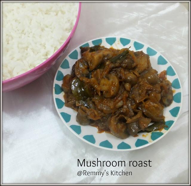 Mushroom roast Kerala style / Koon olarthiyathu