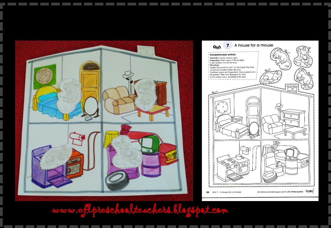 PRESCHOOL WORKSHEET PARTS OF THE HOUSE - kid worksheet