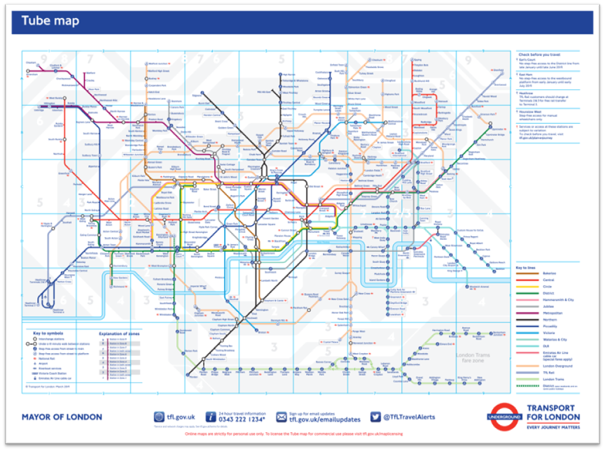 Basic Map Of London.Cartonerd Another New Design For An Old Map