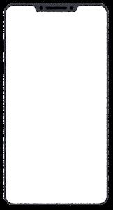 スマートフォンのイラスト2(ブランク)