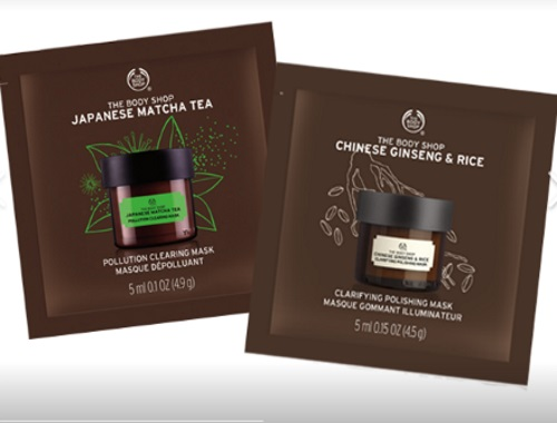 The Body Shop Free Expert Facial Masks Samples