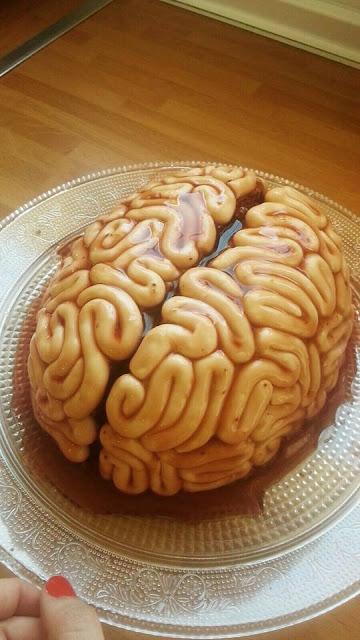 Tarta halloween cerebro