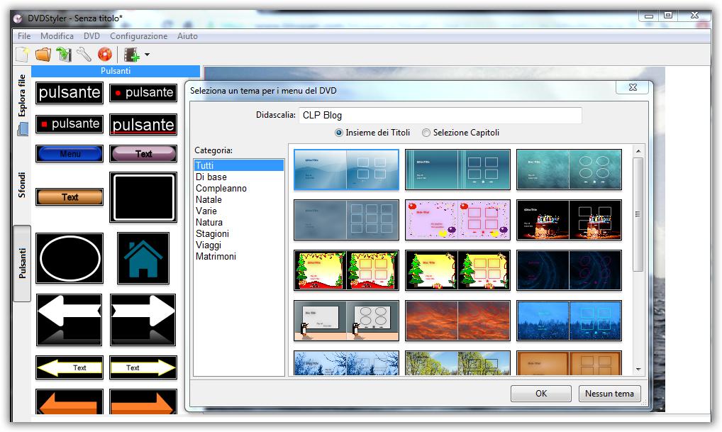 Creare un dvd con menu capitoli software gratis clp blog for Programma per creare