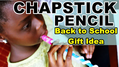 How to Make a CHAPCIL: GREAT GIFT IDEAS FOR TEACHERS and KIDS