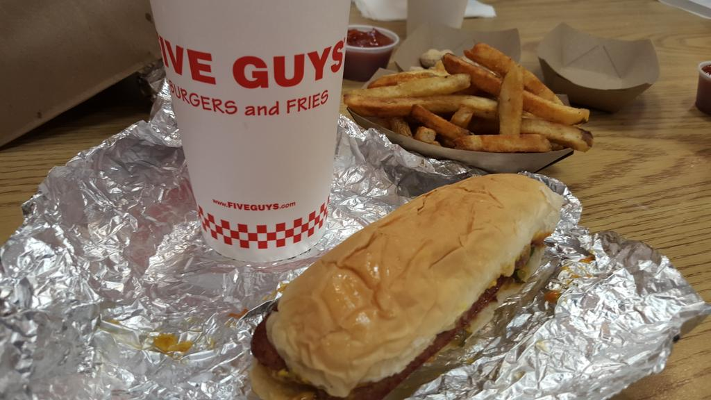 Five Guys Menu and Price List US 2017