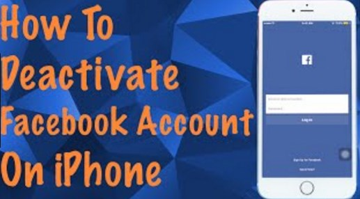 How to deactivate facebook account on iphone app