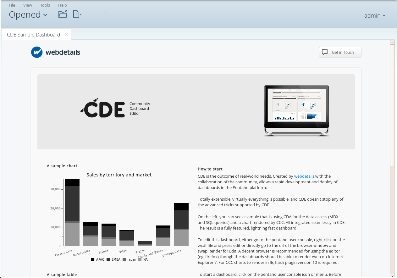 Pentaho CDE with BootStrap - A quick sample   Pedro Alves on