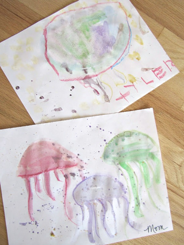 Watercolor Jellyfish Art Project