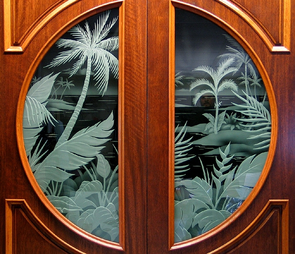 Tropical door design