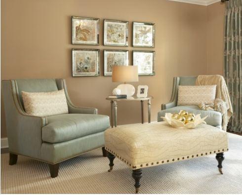 Living Room With Grays Khaki And Creme