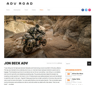 ADV Road interview cover Jon Beck