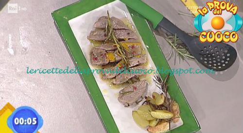 Tagliata al rosmarino e scorza di arancia ricetta Salvatori da Prova del Cuoco