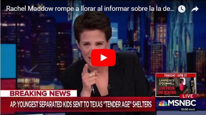 Presentadora de noticias de Estados Unidos lloró al leer la noticia sobre los niños enjaulados pro Donald Trump