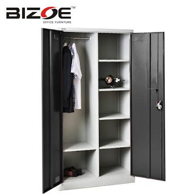 ตู้เสื้อผ้าแฟชั่น BIZOE CC-DZA สีดำ