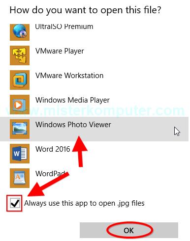 Mengembalikan Windows Photo Viewer Di Windows 10