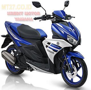 Yamaha Aerox-motor-biru