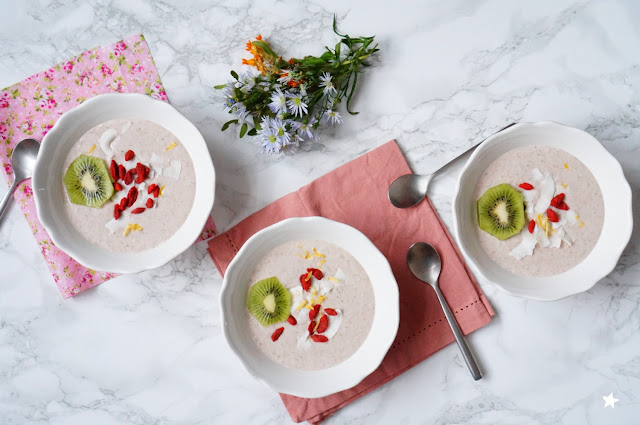 porridge sarrasin rawfood vegan banane fraises