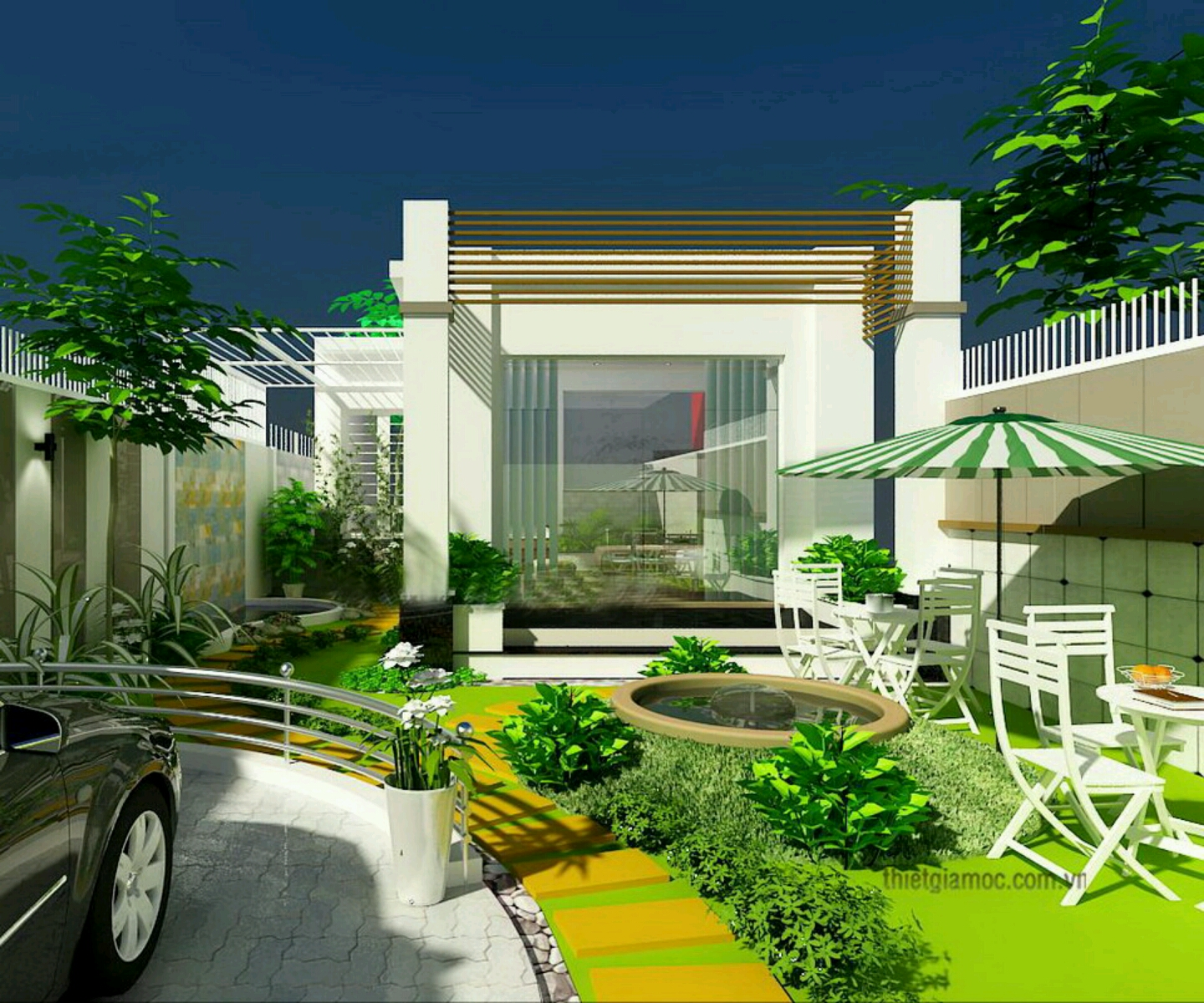 Home Garden Landscaping Ideas: Modern Homes Beautiful Garden Designs Ideas.