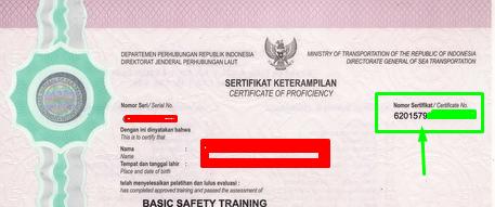 fisik sertifikat pelaut