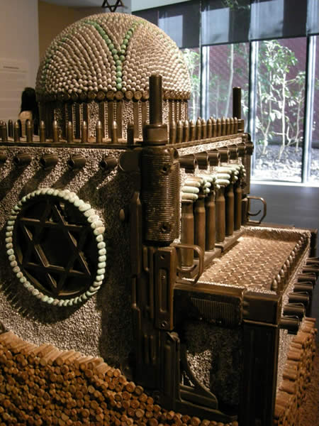 Sculptures made from Guns and Bullets