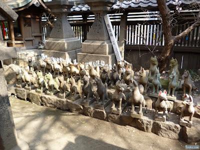 海老江八坂神社豊里稲荷神社白狐
