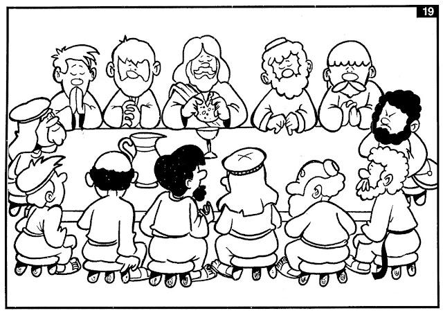 Resultado de imagem para Lucas 22:19–20 para crianças