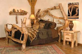rustic log bedding set