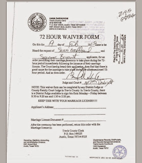 Tex app goodfriend v travis county clerk documents for Gay marriage certificate template