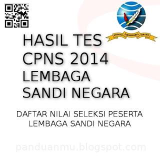 hasil tes CPNS Lembaga Sandi Negara