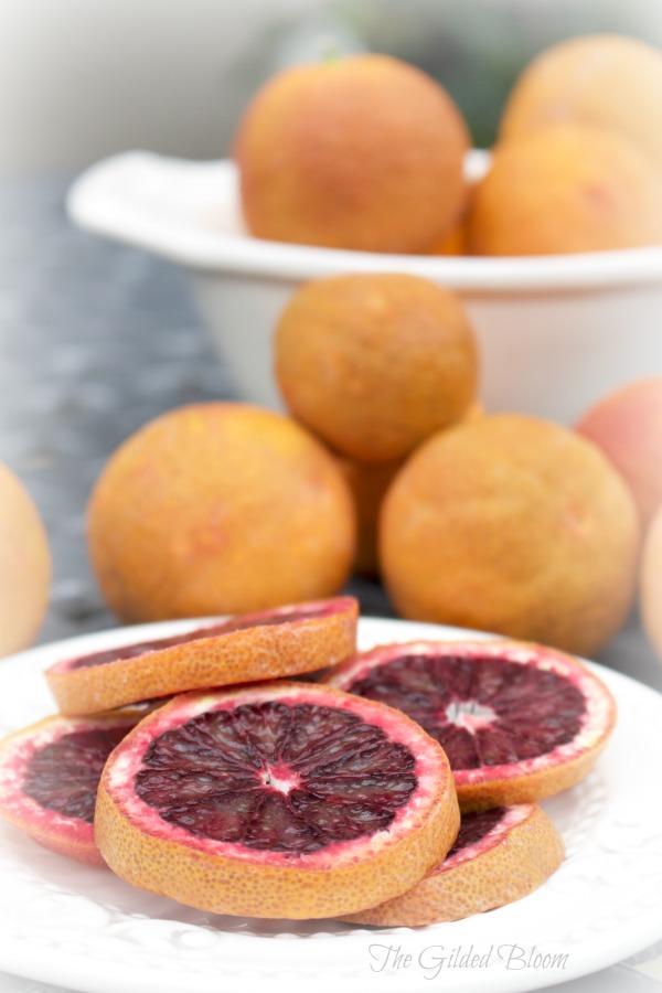 Blood Oranges- Harvesting the Winter Garden- www.gildedbloom.com #gardening