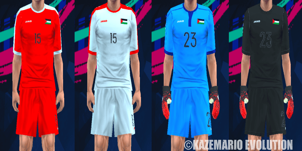 5c087f229 Palestine Kits Asian Cup 2019 For PES PSP (PPSSPP) - Kits by Manolucas