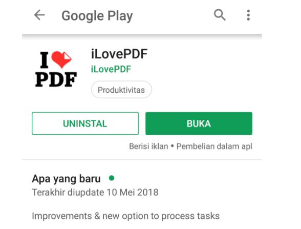 Aplikasi ilovePDF di HP