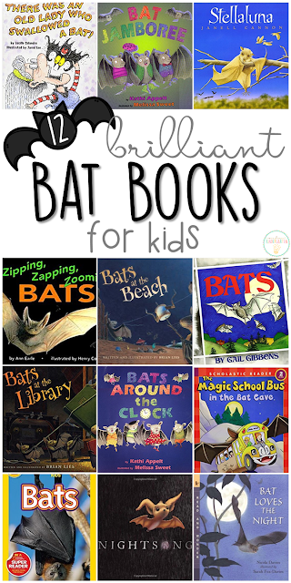If you are planning a bat theme for your classroom or homeschool this fall, you'll definitely want to check out these great bat picture books! Lots of great titles and ideas for incorporating comprehension and writing skills too.