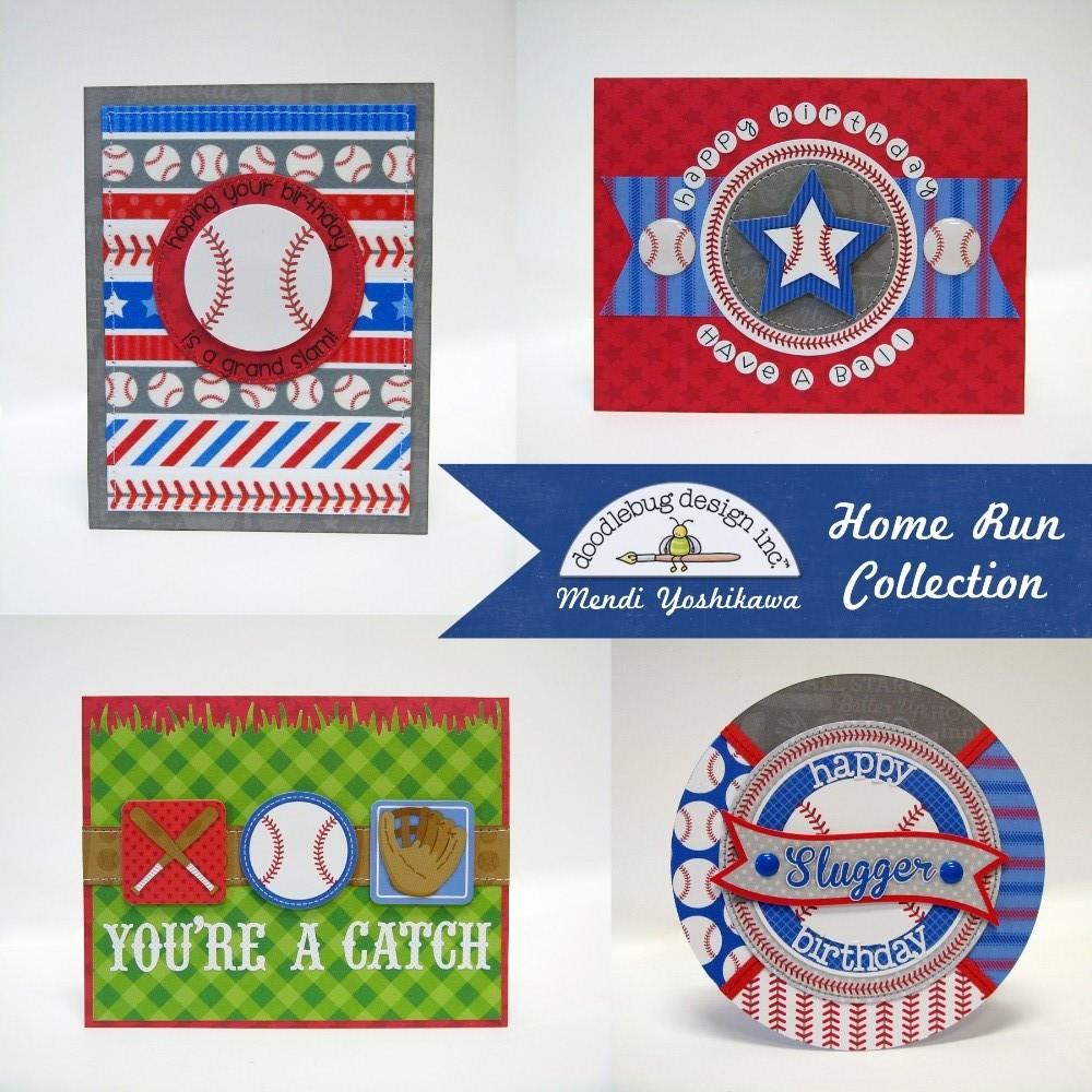 Snippets By Mendi Doodlebug Home Run Baseball Themed Boys