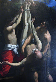 Reni's dramatic depiction of the Crucifixion of St Peter (1605)