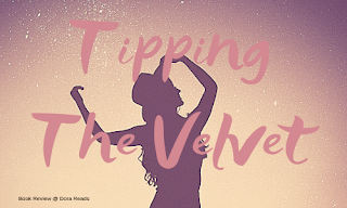 Tipping the Velvet title image with silhouetted woman holding onto her hat