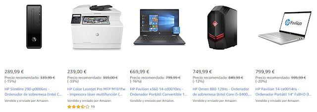Mejores ofertas de la promoción HP Days de Amazon