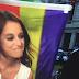 Andrea Levy abucheada y con la bandera republicana de fondo en LaSexta.